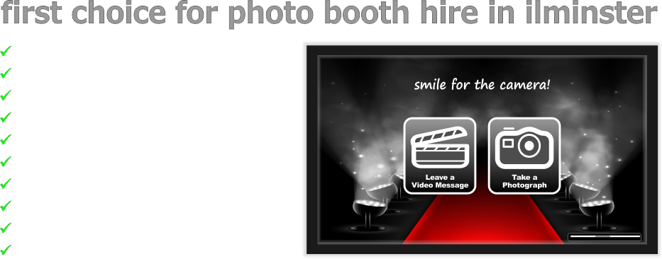 Ilminster Photobooth & Photo Booth Hire, Ilminster, Somerset